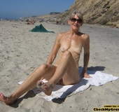Blonde amateur granny gets her face cum covered…
