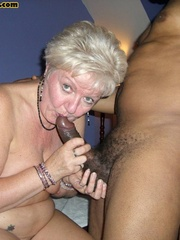 Sex starving granny in fishnet stockings - XXX Dessert - Picture 1