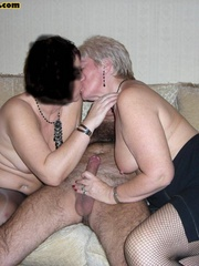 Sex starving granny in fishnet stockings - XXX Dessert - Picture 7
