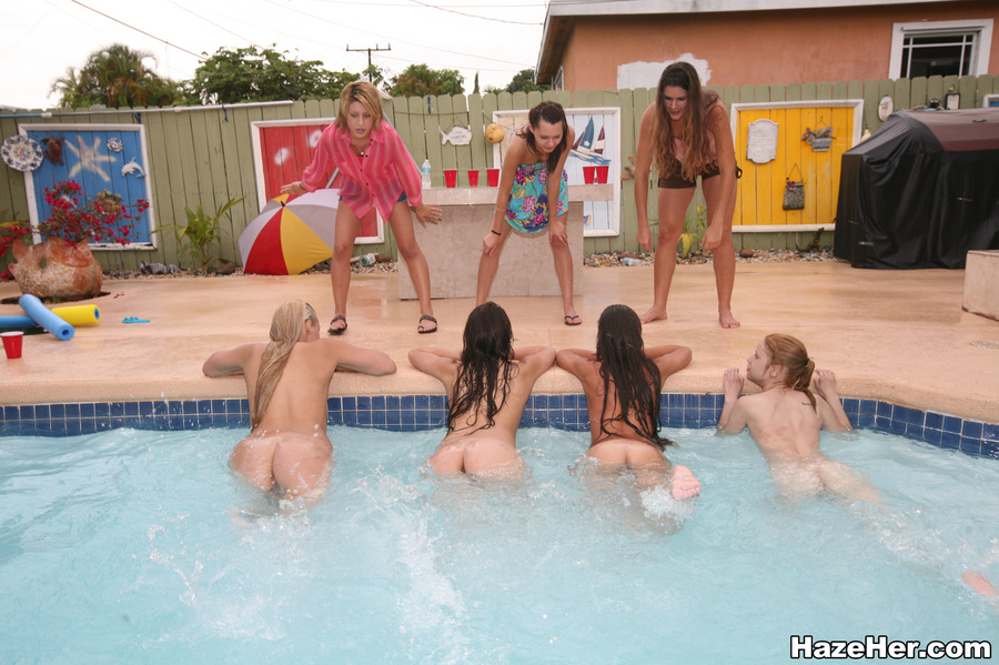 The excellent Naked girls at pool party for that