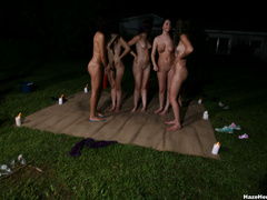 A group of naked girls with blindfolds have - XXX Dessert - Picture 2