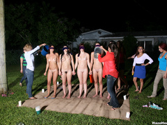 A group of naked girls with blindfolds have - XXX Dessert - Picture 4