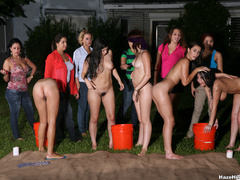 A group of naked girls with blindfolds have - XXX Dessert - Picture 6