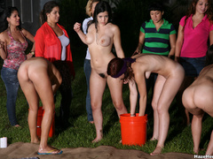 A group of naked girls with blindfolds have - XXX Dessert - Picture 7