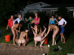 A group of naked girls with blindfolds have - XXX Dessert - Picture 12