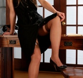 His secretary is a lustful slut who always tries to seduce him to dirty