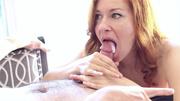 nasty redhead girl tasting