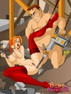 Bdsm toon pics of cute redhead bimbo in red stockings gets her ass hole