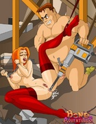 Bdsm toon pics of cute redhead bimbo in red…