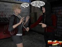 3d cartoon xxx pics of blonde shemale office girl and - Picture 1
