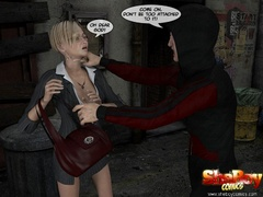 3d cartoon xxx pics of blonde shemale office girl and - Picture 2