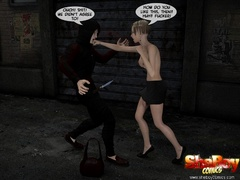 3d cartoon xxx pics of blonde shemale office girl and - Picture 6