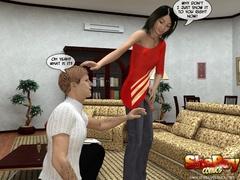3d xx pics of slim brunette ladyboy exposing her dick - Picture 4