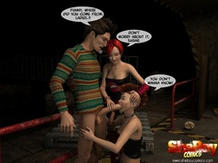 Two 3d alt ladyboys captured lucky starnger and - Picture 6