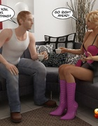 Innocent buff man is being bound by a seductive ladyboy and dominated