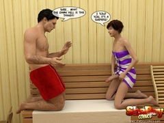 Sex starving cartoon ladyboy gets her mouth cum - Picture 3