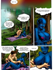 Dude fucks blue female cartoon alien with big tits - Picture 4