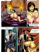 Cartoon Roman bitch with enormous jugs riding a…