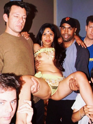 Sex starving indian nymph undressing and doesn't mind group sex with five strangers. - XXXonXXX - Pic 1