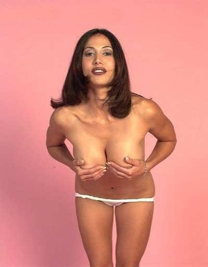 Gorgeous indian milf bimbo stripping off her white lingerie and exposing her big tits. - XXXonXXX - Pic 7