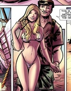 Bdsm comics pics of young couple was captured by criminals and bondaged