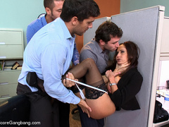 Tape bondaged busty secretary suffering - XXX Dessert - Picture 3