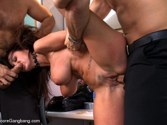 Tape bondaged busty secretary suffering - XXX Dessert - Picture 5