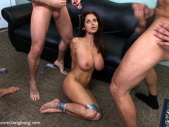 Tape bondaged busty secretary suffering - XXX Dessert - Picture 14