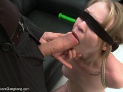 Blindfolded and bondaged blonde having her - XXX Dessert - Picture 3