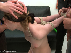 Blindfolded and bondaged blonde having her - XXX Dessert - Picture 4