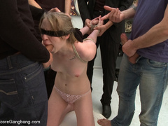 Blindfolded and bondaged blonde having her - XXX Dessert - Picture 6