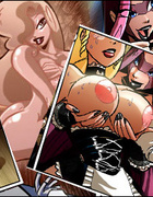 Dirty adult comics nymphs revealing their huge…