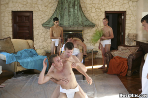 Naked guy get humiliated and forced cleaning floor before getting assfucked - XXXonXXX - Pic 7