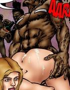 Old black tribe fucks passionately hot blonde…