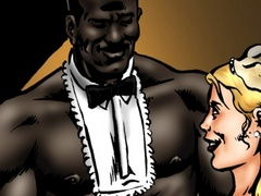 Blonde slut loves fucking with black dudes in - Popular Cartoon Porn - Picture 1
