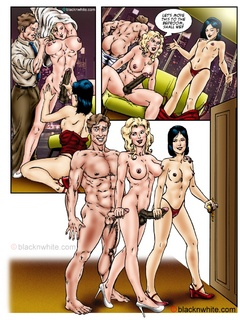 Hot threesome cartoon fucking with a blonde - Popular Cartoon Porn - Picture 4