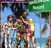 Mandingo resort where white chicks come to play with and fuck big black