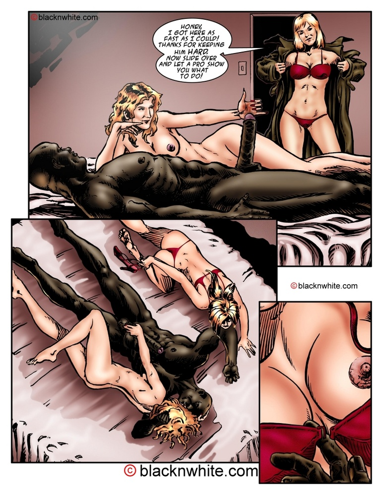 Big black dude fucking with two white sexy - Cartoon Sex - Picture 2