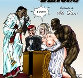 Big black dude fucking with two white sexy blondes&hellip;