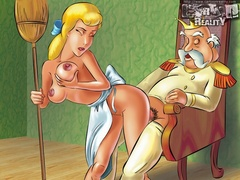 Lustful Cinderella makes her cat lick her - Popular Cartoon Porn - Picture 2