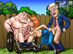 Lois Griffin gets horny and fucks with two - Popular Cartoon Porn - Picture 3