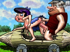 Barney Rubble and a dinosaur fucking together - Popular Cartoon Porn - Picture 3