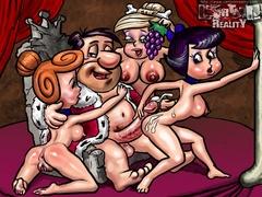 Horny Fred Flintstone bangs hard his friend's - Popular Cartoon Porn - Picture 3