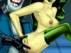 Lustful Shego gets pleasure when Kim kissing - Popular Cartoon Porn - Picture 1