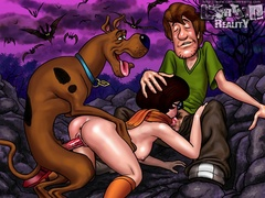 Lustful Scooby loves fucking Dafna and Velma - Popular Cartoon Porn - Picture 3