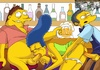 Nasty Marge Simpson participate in hot threesome fucking