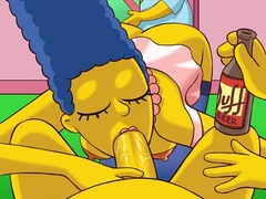 Horny Homer Simpson gets his cock swallowed - Popular Cartoon Porn - Picture 2