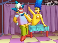 Sexy Marge gets fucked hard by horny Clown - Popular Cartoon Porn - Picture 2