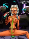 Slutty Ahsoka Tano rides Jedi's cock with a great pleasure