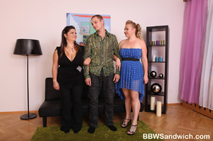 Two lustful bbw captured a guy and tortu - XXX Dessert - Picture 2